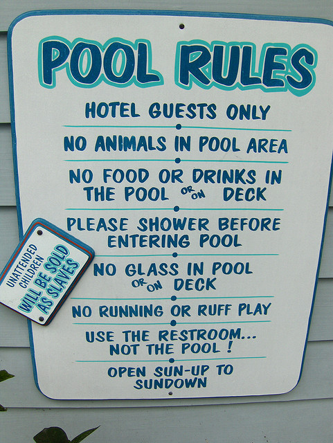 7 new unofficial office rules for Pool design rules