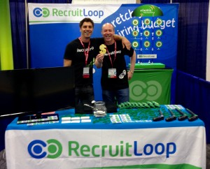 RecruitLoop Cofounders at HR Tech