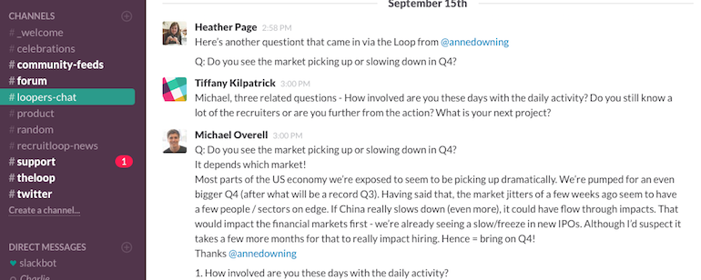 We held an AMA with our CEO, Michael Overell