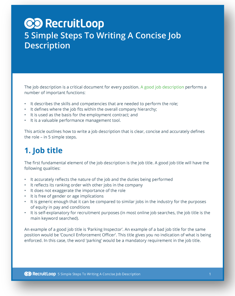 5 Simple Steps To Writing A Concise Job Description_366x232