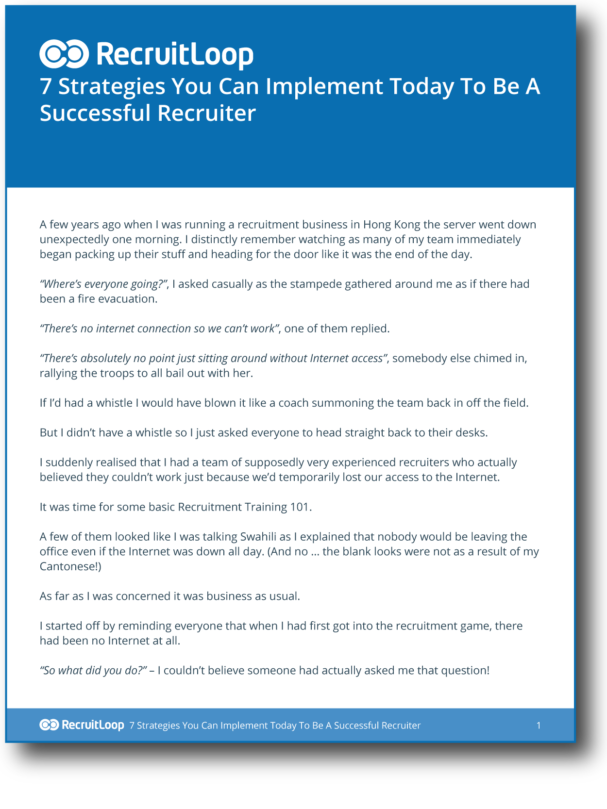 an introduction to the several methods for online recruiting A basic introduction about what recruitment is all about and various methods of conducting it search search upload sign in  there are several types of recruitment: • online recruitment • principles of help wanted advertising • executive recruiter  documents similar to introduction to recruitment process questionnaire on.