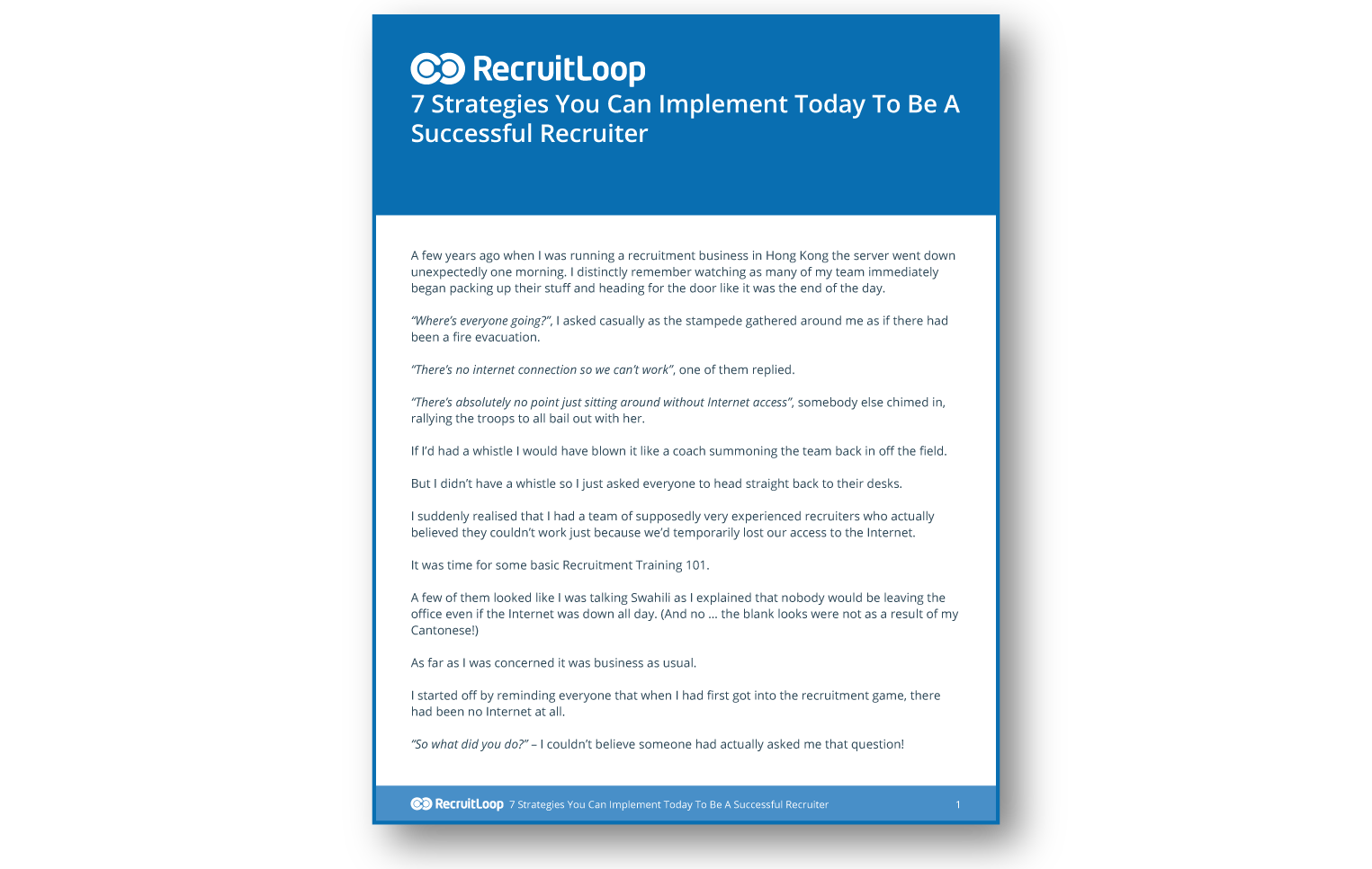 7 Strategies You Can Implement Today To Be A Successful Recruiter_366x232