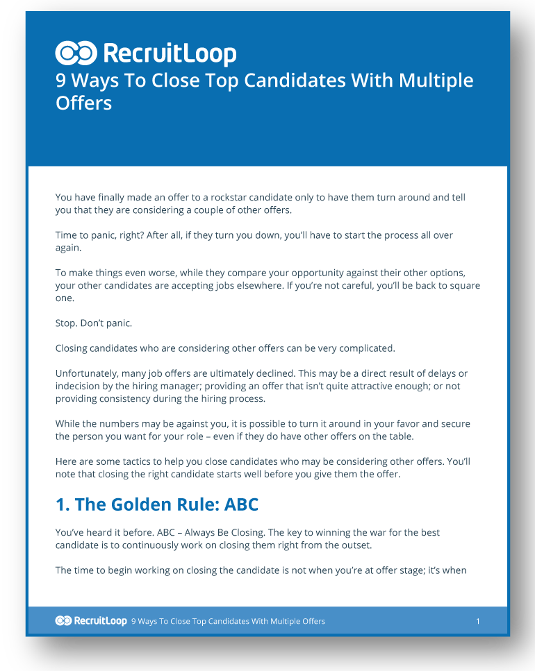 9 Ways To Close Top Candidates With Multiple Offers_366x232