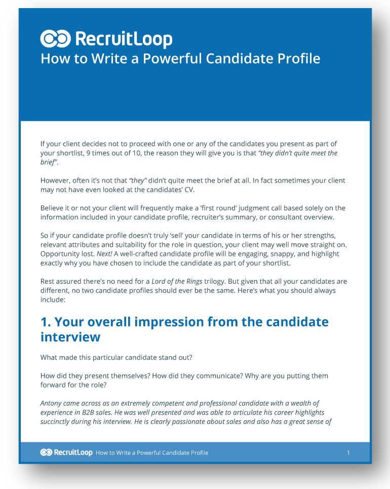How to Write a Powerful Candidate Profile_366x232