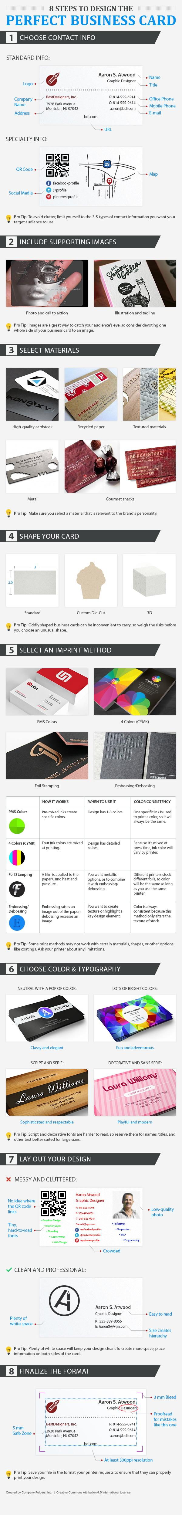 8 Steps to Design the Perfect Business Card