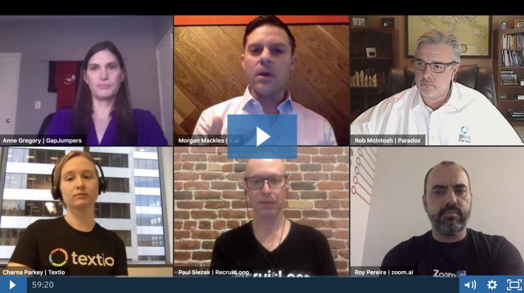 screenshot of panelists in video