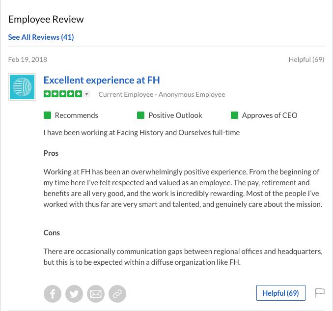 FH Employee Review screenshot