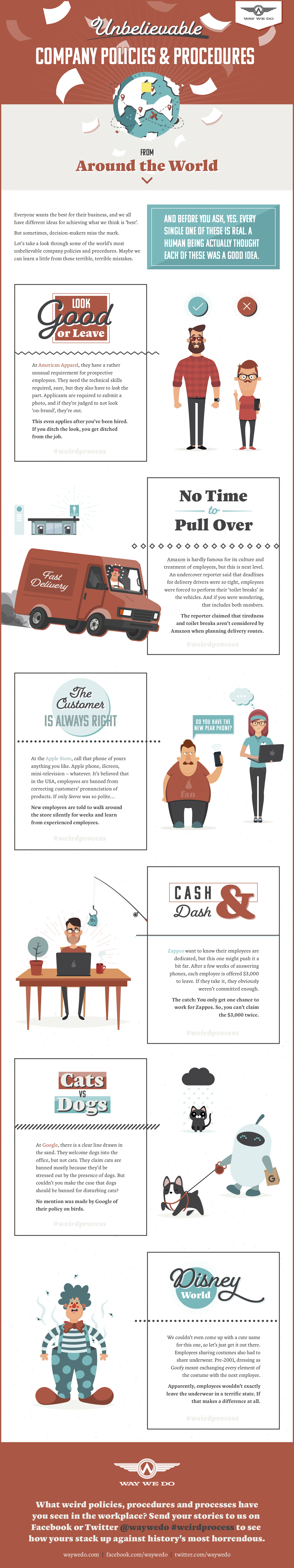 Unbelievable Company Policies and Procedures From Around The World [Infographic]