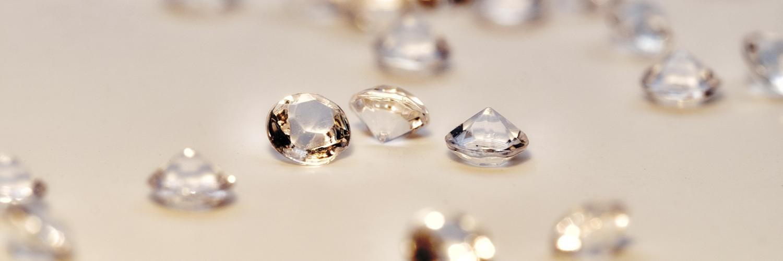 Assorted cut diamonds