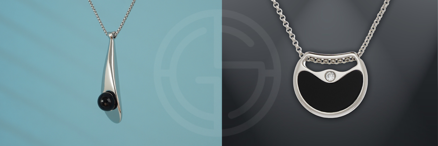 Natural semi-precious gemstone geometric minimalist jewellery by Gems In Style, Morning Dew and Double Agent collections.