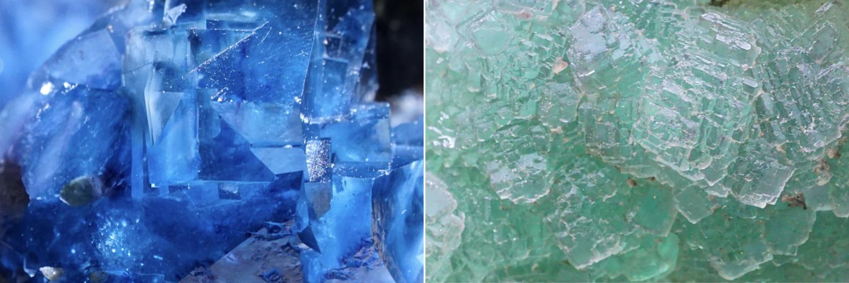 Natural gemstones crystals