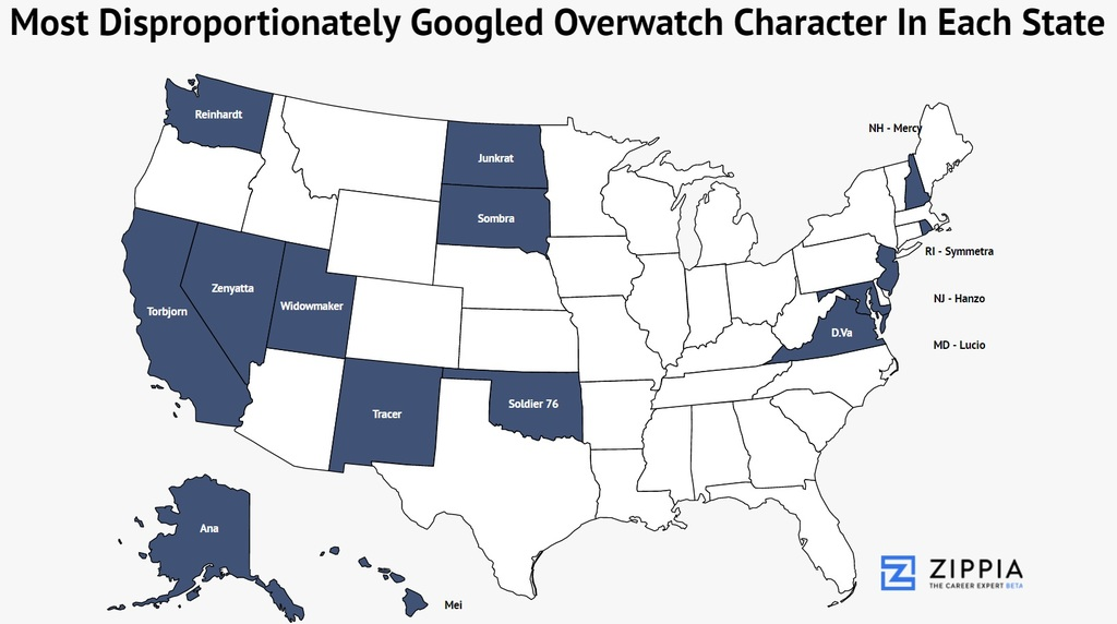 Overwatch Characters Which States Search For Your Favorite Zippia