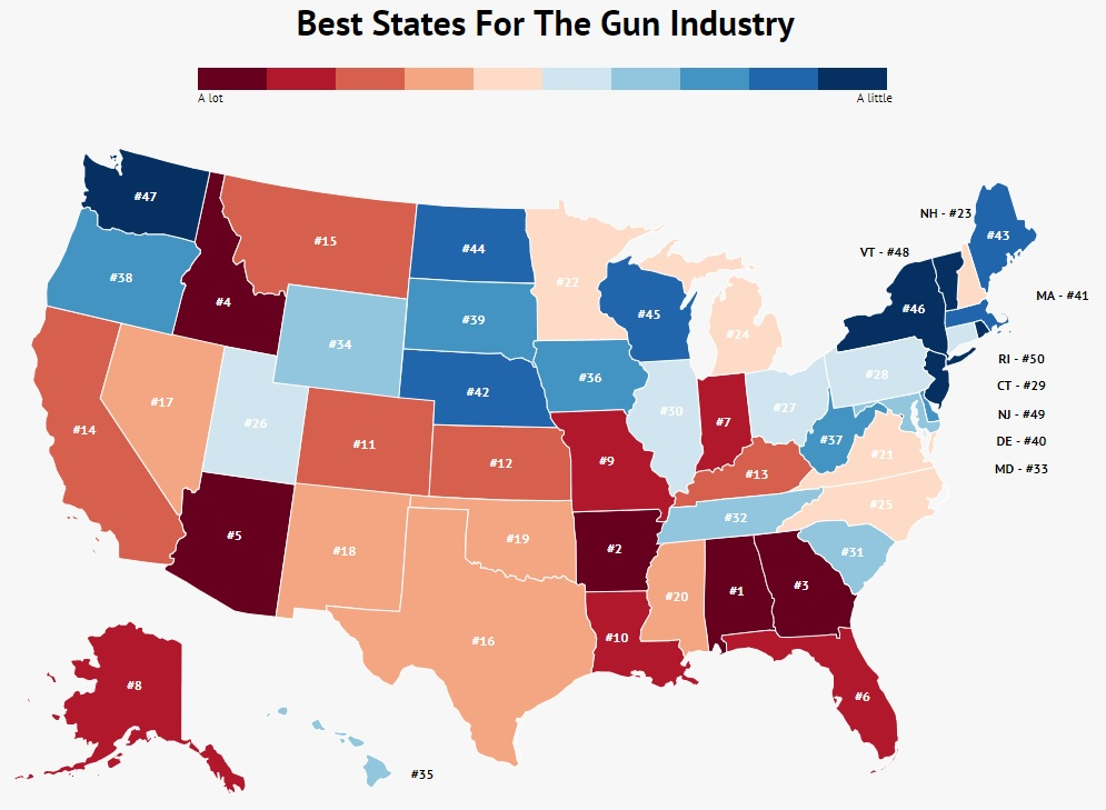 Best States For Gun Industry