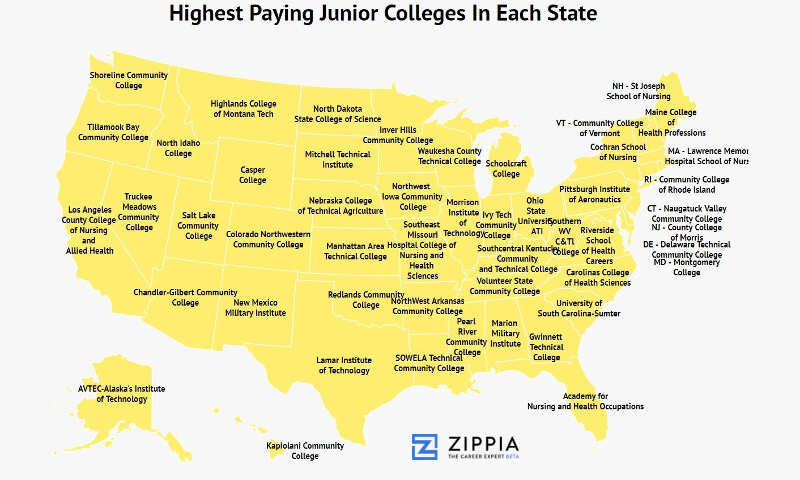 These Are The Junior Colleges With The Highest Earning Graduates In