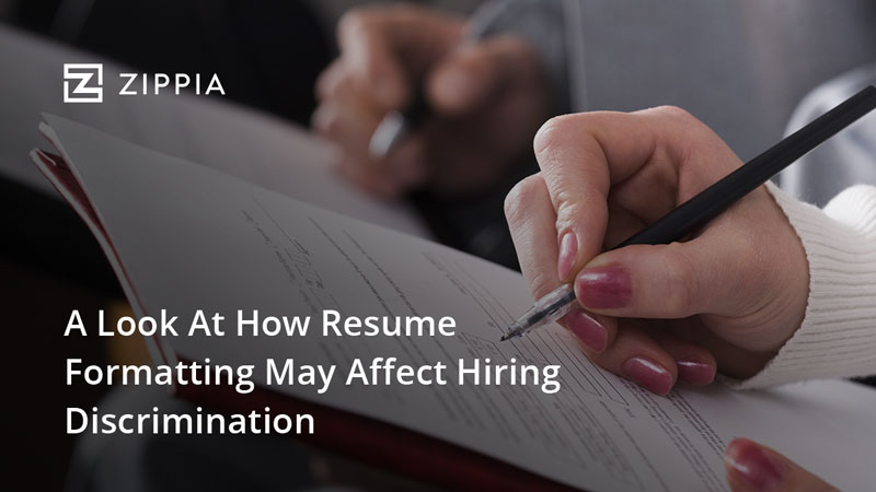 a look at how resume formatting may affect hiring discrimination
