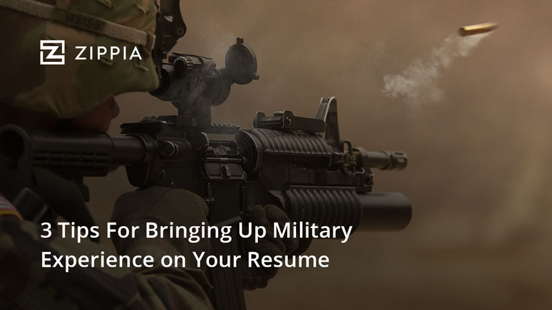 3 tips for bringing up military experience on your resume zippia