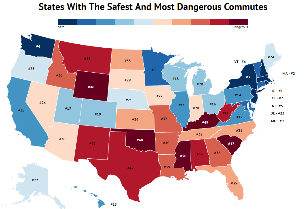 States With The Best And Worst Commutes