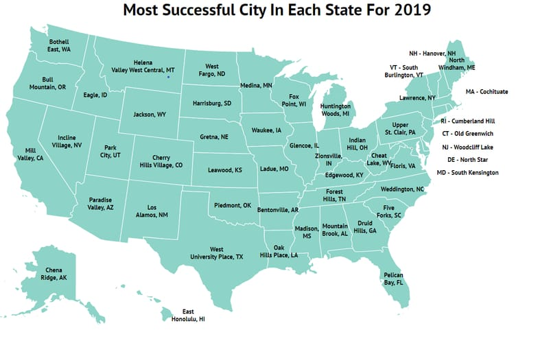 The Most Successful City In Each State For 2019