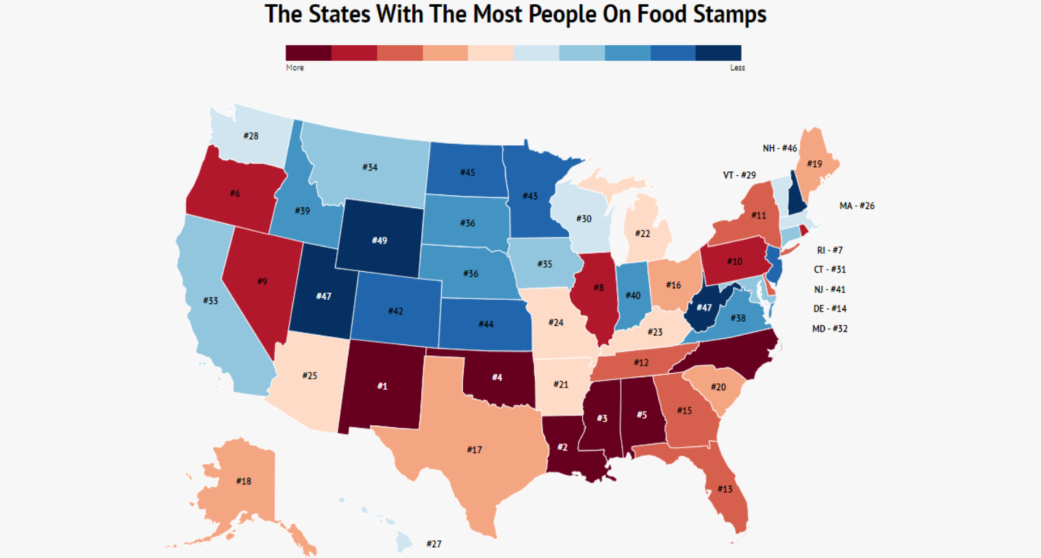 The 10 States With The Most People On Food Stamps