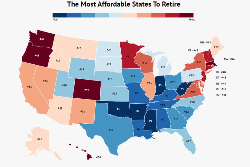 The Absolute Cheapest States To Retire In 2020 Zippia